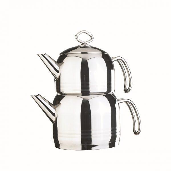 کتری و قوری تمام استیل دلمونتی مدل Tea kettle set DL 1415