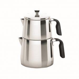 کتری و قوری تمام استیل دلمونتی مدل Tea kettle set DL 1435
